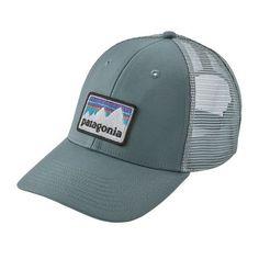 Patagonia Shop Sticker Logo Lopro Trucker Hat - Shawdow Blue a106089c947e