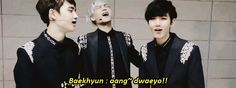 "and then Baekhyun says he cant do aegyo >:( i mean this guy is filled with aegyo but he only hids it to keep up with a manly image.... meanwhile D.O "" why did i cme wid them??"""