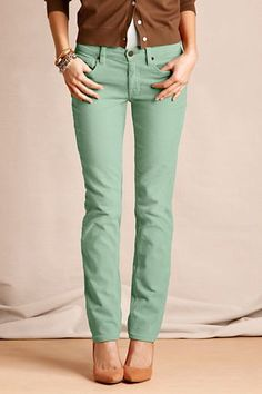 47fe8c94928 Women s Pin Straight Cords from Lands  End Canvas - Light Cypress