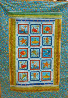 Quilting: Blake's Fish QUilt-Big Projects on a Small Machine