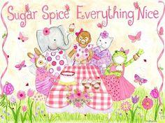 Sugar & Spice Picnic Canvas Reproduction