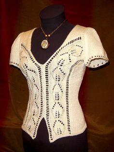 Alyce Tee Knitting Pattern-PDF