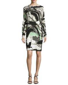 All-in-One Graffiti-Print Dress