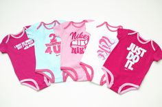 nike baby girl onesies, yep i know when i have kid what its wearing