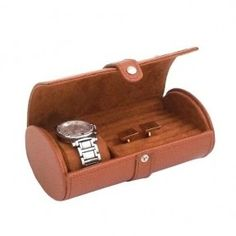 Leather Travel Watch Cufflink Case Tarnish Proof, Tan by Officethrive. $54.00. Material: Leather. well- designed. Size: 7L x 3.75W x 2.75H Inch. Color: Tan. Travel watch/cufflink case. Purse-shaped case is perfect choice for gifting to your loved one as i