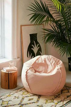 Exposed Seam Bean Bag Chair Oversized bean bag chair made from soft polyester. Perfectly cushy + comfy design that works in any space! Puf Grande, Puff Gigante, Oversized Bean Bag Chairs, Urban Outfitters Furniture, Cheap Bean Bag Chairs, Bean Bag Living Room, Wooden Office Chair, Office Chairs, Oversized Furniture
