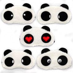 Frete grátis Panda dormir máscara de olho cochilo sombra de olho dos desenhos animados Blindfold sono olhos tampa dormir viagem de lazer Patch Blinder