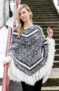 Háčkované pončo z příze | Vlnika - Příze, pletení, háčkování