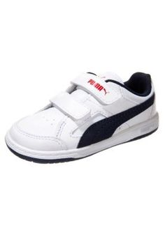 REBOUND - Sneakers basse - white/peacoat/high risk red