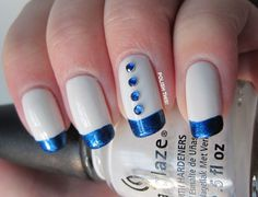 Polish This!: My Favourite Manicures of 2012  Finland's Independence Day Manicure