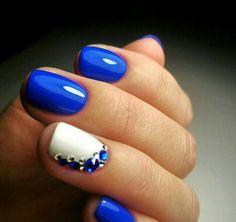 That'S the prettiest blue nail art blue, blue gel nails, cobalt blue nails, Fabulous Nails, Gorgeous Nails, Pretty Nails, Gorgeous Gorgeous, Fancy Nails, Diy Nails, Cute Nail Designs, Gem Nail Designs, Diamond Nail Designs