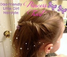 Lovely little girl hairstyle even my husband can do! Give it a try!