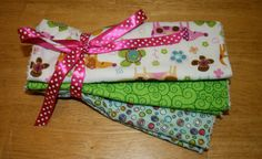 Dog Baby Burp Cloth Set of 3 Unisex by Amandamaetucker on Etsy, $15.00