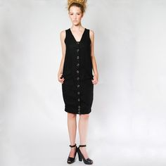 Belted Snap Dress Black now featured on Fab.
