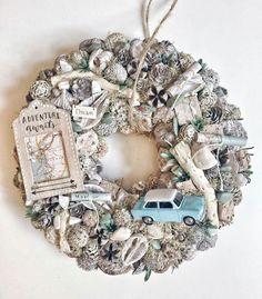Christmas Advent Wreath, Christmas Decorations, Holiday Decor, Handmade Christmas, Christmas Diy, Moss Wreath, Deco Wreaths, Easter Wreaths, Handmade Home Decor