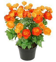 Perfekt i områder som ikke er egnet for levende Planter Planter Pots, Floral Wreath, Wreaths, Service Client, Unique, Budget, Buttercup, Artificial Flowers, Orange Color