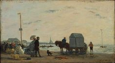 Eugène Boudin (French, 1824–1898). On the Beach at Trouville, 1863. The Metropolitan Museum of Art, New York. Bequest of Amelia B. Lazarus, 1907 (07.88.4)