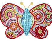 451 Butterfly 3 Machine Embroidery Applique Design