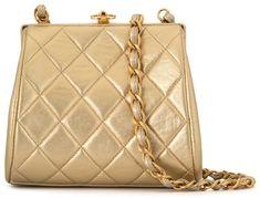 1997 Diamond Quilted Metallic Shoulder Bag Diamond Quilt, Metallic, Chanel, Shoulder Bag, Bags, Fashion, Handbags, Moda, Fashion Styles