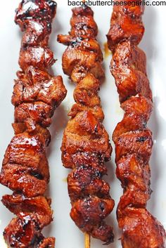 Bacon, Butter, Cheese & Garlic: Korean inspired Chicken on a Stick...easy and yummy! | BaconButterCheeseGarlic.com