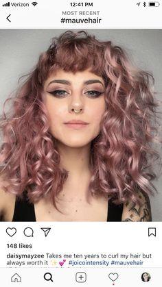 Mauve hair I love!