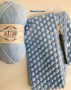 NUP POPCORN MODEL BEBEK BATTANİYE   Nazarca.com Baby Blanket Crochet, Crochet Baby, Knit Crochet, Baby Knitting Patterns, Stitch Patterns, Border Embroidery Designs, Pop Corn, Happy Baby, Crochet Clothes