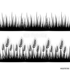 """Descargue el vector libre de derechos """"Wheat grass green icon juice black. Logo, banner, frame for"""" creado por huhehoda al precio más bajo en Fotolia.com. Explore nuestro económico banco de imágenes para encontrar el vector perfecto para sus proyectos de marketing."""
