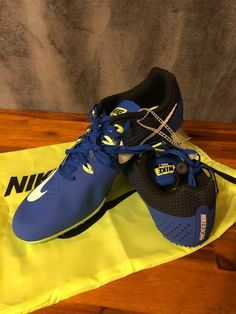 e70c2d33126 NEW Nike Track Sprint Spikes Zoom Rival Blue Black Men s 806554-413 SZ 11.5