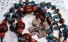 Handcrafted Artisan OneofaKind Rosary door TestamentHandcraft