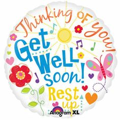 This Get Well Messages - Balloon makes a great choice for events and themes such as Get Well Balloons, Message Balloons, Standard Foils. Quantity discounts available on this item! This balloons ships uninflated and is not packaged for resale. Get Well Soon Images, Get Well Soon Funny, Get Well Soon Messages, Get Well Soon Quotes, Well Images, Get Well Wishes, Get Well Cards, Birthday Message For Friend, Birthday Messages