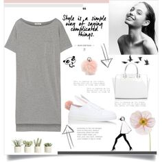 Untitled #154 by d-meggy on Polyvore featuring moda, T By Alexander Wang, Minna Parikka, Michael Kors, Adrienne Landau, Allstate Floral and Jayson Home