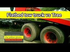 Flatbed Tow Truck Pulling A Tree Tow my Tree. These guy were hired to remove a huge giant size Tree stump. Flatbed tow truck vs tree watch full video to see . Tree Watch, Flatbed Towing, Truck Pulls, Tow Truck, Monster Trucks, Projects, Log Projects, Blue Prints
