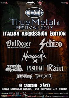 EVENT: TRUEMETAL.IT FESTIVAL 2017 ITALIAN AGGRESSION EDITION @ ISOLA SUMMER ARENA (PR)
