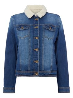 This mid denim jacket is an essential staple for when the temperature drops.