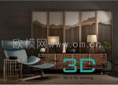 cool 64. Sideboard & chest of drawer 3D model Download here: http://3dmili.com/furniture/sideboard-chest-of-drawer/64-sideboard-chest-drawer-3d-model.html