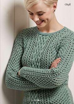 Вязание пуловера Ghyll
