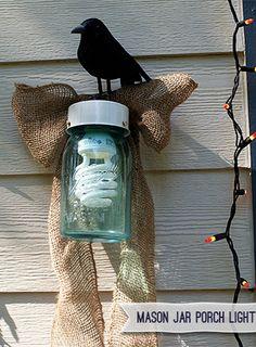 Easy DIY Mason Jar Decor {Porch Light} — Saved By Love Creations