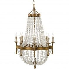 Regina Andrew Scalloped Frosted Crystal Bead Chandelier