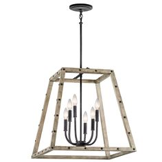 Basford 6 Light Pendant - Distressed Antique Gray