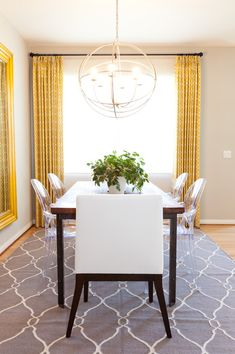 30 Awesome Photo of Neutral Dining Room . Neutral Dining Room Dinning Rooms Small Dining Room With Grey Modern Morrocan Rug And Yellow Dining Room, Dining Room Sets, Dining Room Design, Dining Area, Dining Table, Room Rugs, Rugs In Living Room, Area Rugs, White Wall Paint