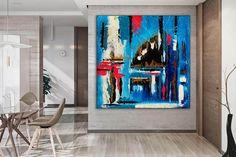 original abstract Handmade painting Canvas painting image 2 Dinning Room Wall Art, Bathroom Wall Art, Canvas Painting Images, Canvas Art, Large Canvas, Kids Room Paint, Oversized Wall Art, Office Wall Art, Modern Wall Decor