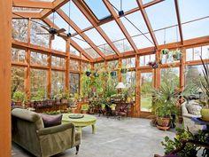 HappyModern.RU   Проект дома с зимним садом (51 фото): когда уютно и людям, и растениям   http://happymodern.ru
