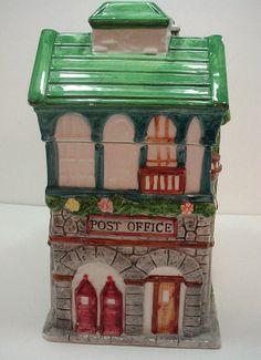Post Office Vintage Cookie Jar Building Cookie by redbrickemporium