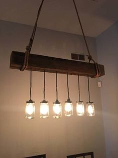 Reclaimed Wood Beam Light Fixture by UrbanstylesShop on Etsy