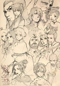 Avatar: The Last Airbender characters sketches - by Roggles