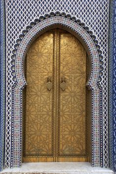Royal Palace door in Fez Morocco