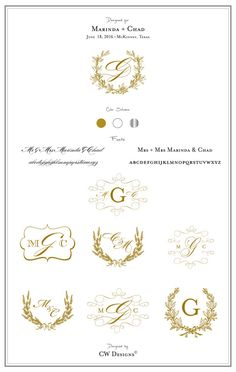 Formal Monogram Wedding logo Wedding Monogram by cwdesigns2010