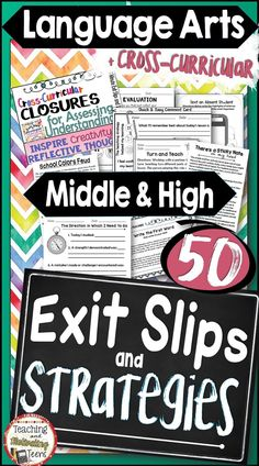 Inspire creativity and reflective thought with 50 exit tickets and strategies. Use again and again all year while setting up a successful classroom discipline routine. Teacher and student directions are included. 5-15 minute assignments to help you assess student learning, interests, and suggestions.