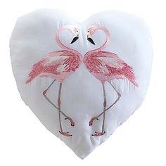 Flamingo Filled Cushion