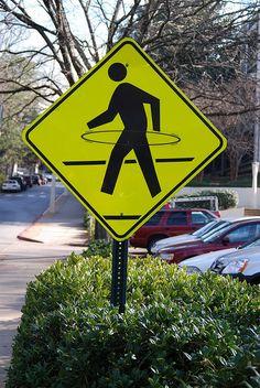 Hula Hoop walk signs